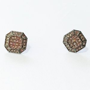Silvertone hexagons with paved cz